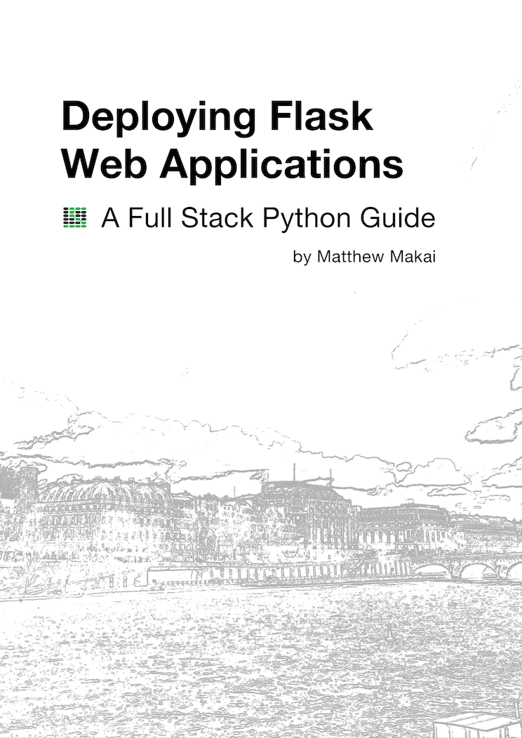 Picture of the Deploying Flask Web Applications book cover.