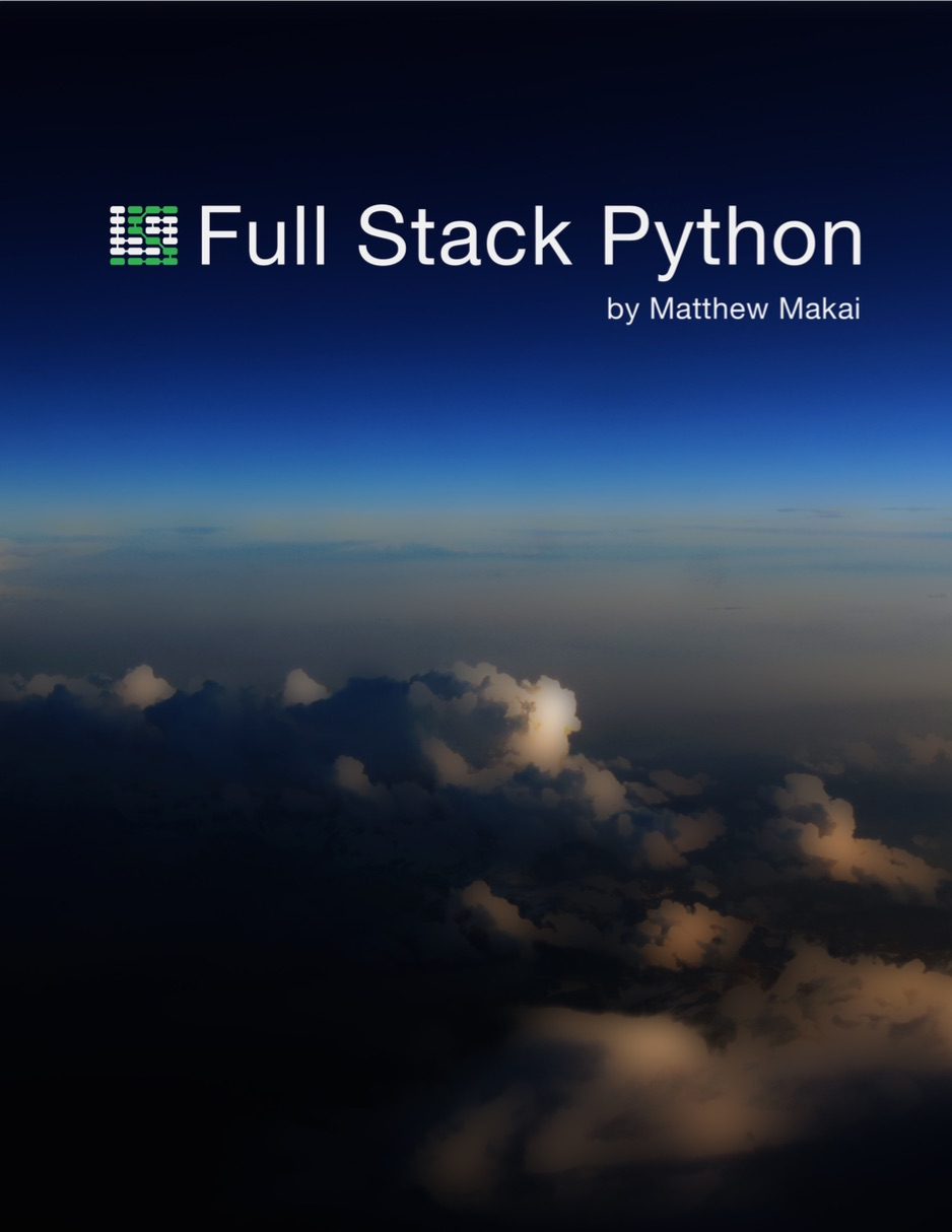 Picture of the Full Stack Python book cover.